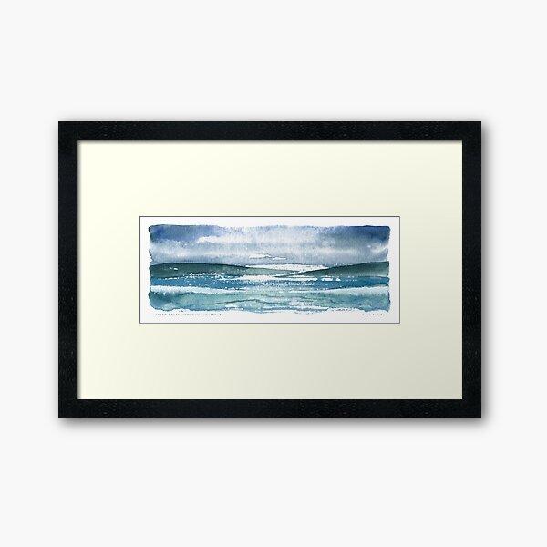 Storm Break, Vancouver Island, BC Framed Art Print