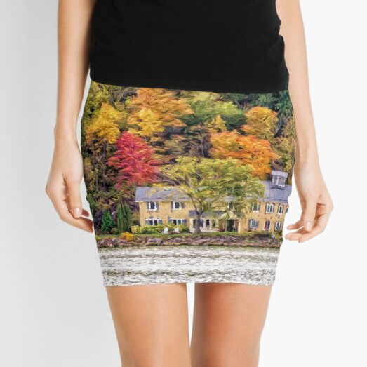 Autumn by the Lake Mini Skirt