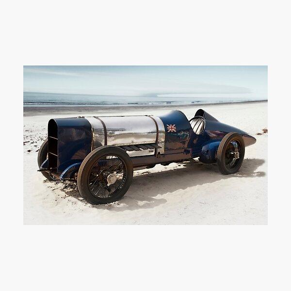 Sunbeam 'Blue Bird' on Pendine Sands Photographic Print