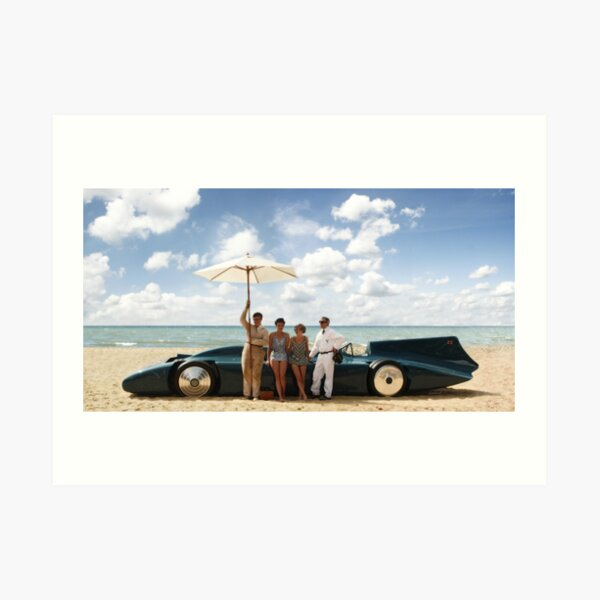 Bluebird V on Daytona Beach Art Print