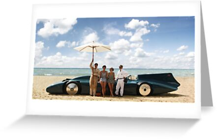 Bluebird V on Daytona Beach by Charles Rist