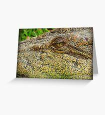 Crocodile eye Greeting Card