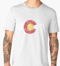 Colorado State Flag Men's Premium T-Shirt