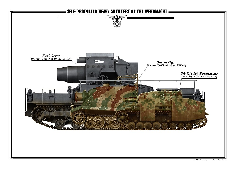 tanks posters - Heavy self Propelled guns of the Wehrmacht