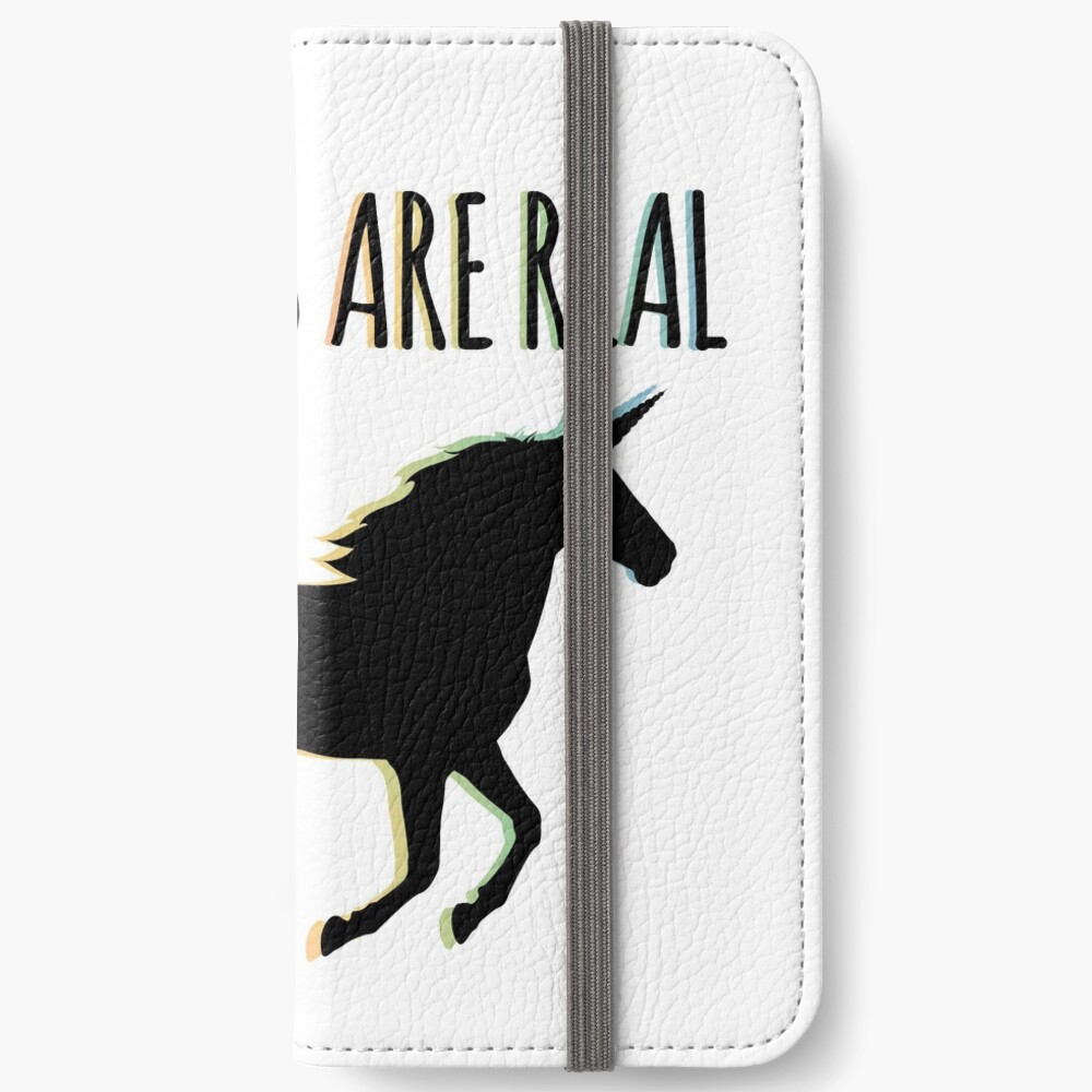 Unicorns are Real Rainbow Version iPhone Wallet