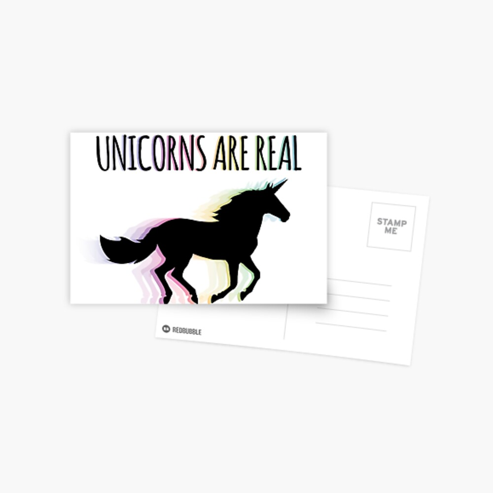 Unicorns are Real Rainbow Version Postcard