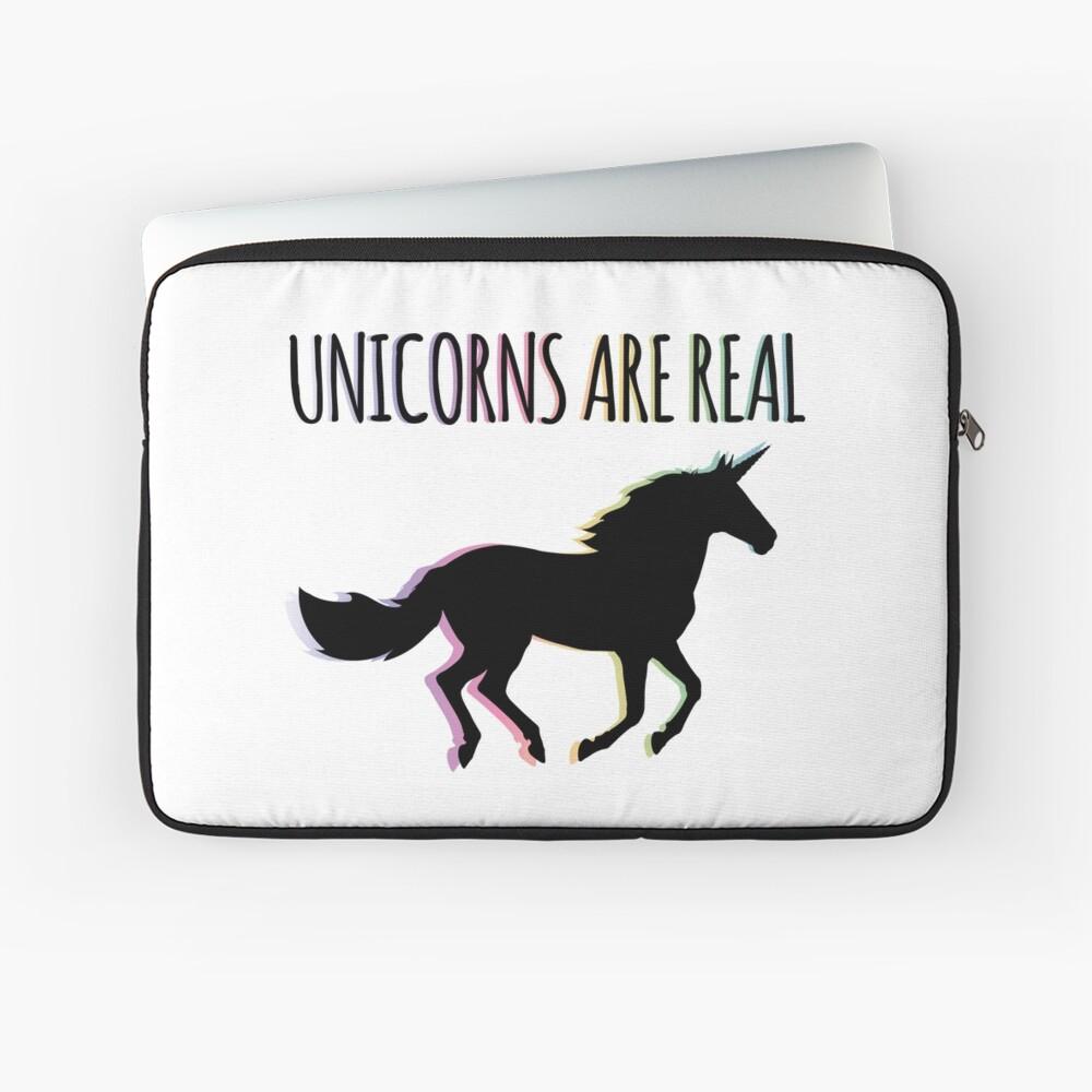 Unicorns are Real Rainbow Version Laptop Sleeve