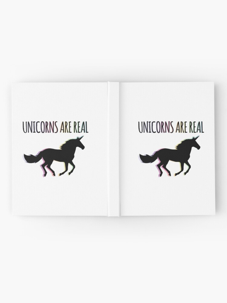 Alternate view of Unicorns are Real Rainbow Version Hardcover Journal
