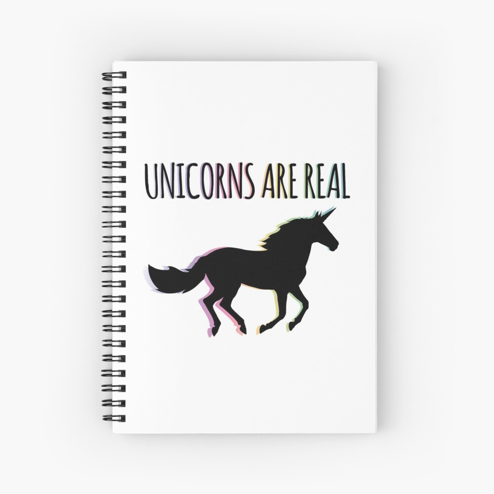 Unicorns are Real Rainbow Version Spiral Notebook