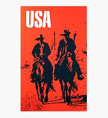 Vintage Travel Poster - Western USA Photographic Print