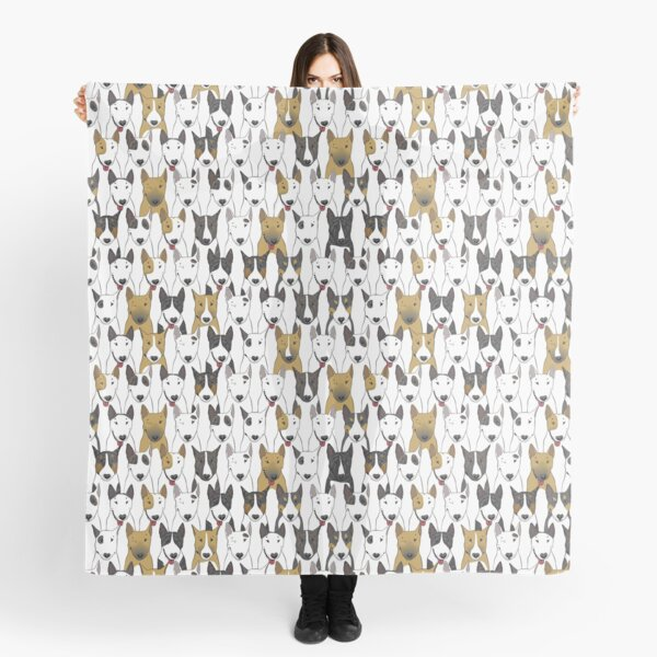 Funny bull terriers pattern Scarf
