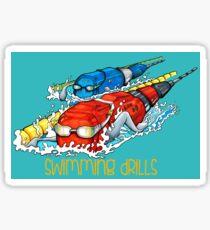 Swimming drills Sticker