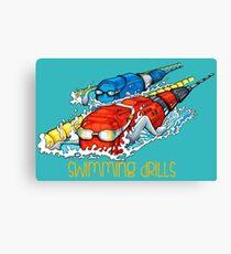 Swimming drills Canvas Print