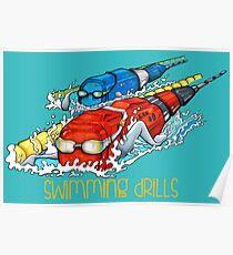 Swimming drills Poster