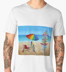 HAWAIIAN SIGN POSTS TO PARADISE Men's Premium T-Shirt