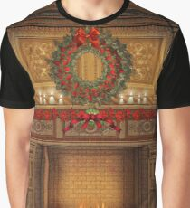 Christmas Fireplace Graphic T-Shirt