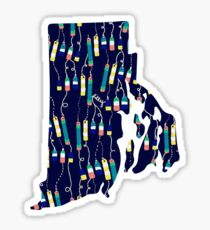 Oh Bouy Lilly Pulitzer Rhode Island State Sticker