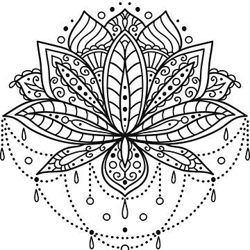 Ornamental Lotus flower by genevskayamariy