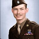 Desmond Doss, the first conscientious objector to receive the Medal of Honor, given to him due to his actions at Hacksaw Ridge, during the Battle of Okinawa by Mads Madsen