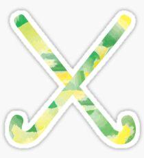 Field Hockey Watercolor 4 Sticker