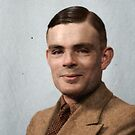 Alan Turing - a computer scientist, philosopher and cryptologist who played a crucial role in breaking the Nazis' Enigma code, seen here in happier times. Unknown date. by Mads Madsen