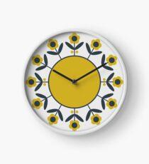 Retro Blume (Senf) Uhr
