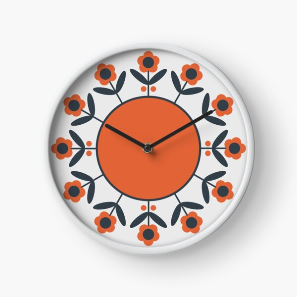 Retro Flower (Tomato) Clock