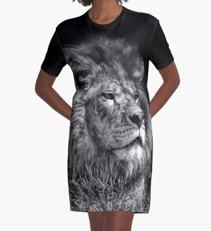 Proud Young Lion Graphic T-Shirt Dress