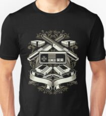 Retro Video Game Console And Controllers With Guns Unisex T-Shirt