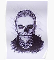 American Horror Story: Murder House Tate Langdon Pen Drawing Poster