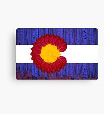 aspen tree Colorado flag Canvas Print