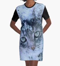 Miss Kitty Unleashed! Graphic T-Shirt Dress