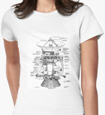 NASA - Cassini-Huygens Schematic Women's Fitted T-Shirt