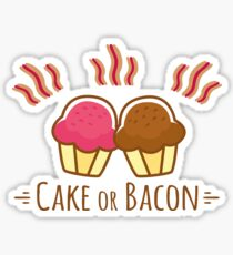 Meal Time - Cake or Bacon Sticker