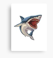Cartoon Shark Canvas Print