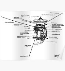 NASA - Cassini-Huygens Schematic Poster