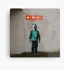 Banksy - Crying Kid Metal Print