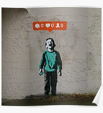 Banksy - Crying Kid Poster