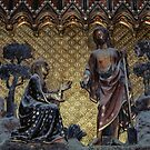 Jesus and Mary Magdalene in Garden C14 Polychrome Notre Dame Paris 19840818 0035 NOT FOR SALE by Fred Mitchell