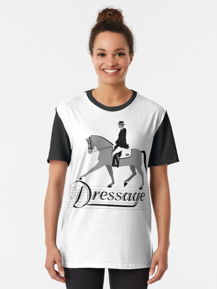 Alternate view of Dressage - Male Rider Graphic T-Shirt