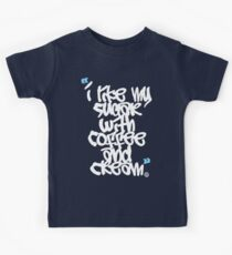I like my sugar with coffee and cream Kids Tee