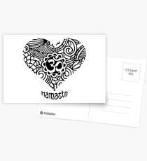 Yoga Heart Namaste Om Postcards