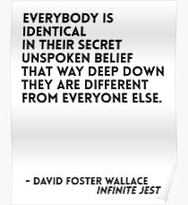 David Foster Wallace Quote Poster