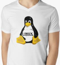 Tux Linux Men's V-Neck T-Shirt