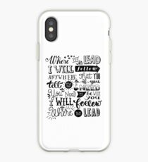 where you lead {gilmore girls} iPhone Case