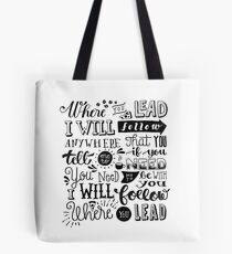 where you lead {gilmore girls} Tote Bag