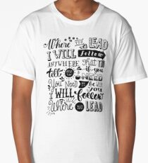 where you lead {gilmore girls} Long T-Shirt