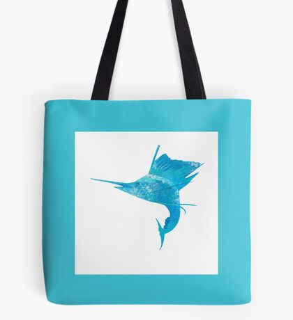 Mosaic Sailfish / Watercolour Effect (Print) - Light Tote Bag
