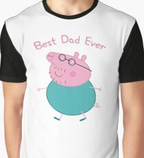 Peppa Pig, Daddy Pig, Best Dad Ever Graphic T-Shirt