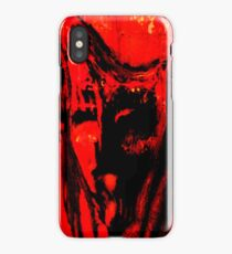 Red Face iPhone Case/Skin